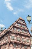 Antiguo edificio del ayuntamiento en esslingen am nechar, alemania — Foto de Stock
