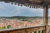 Esslingen am neckar utsikt från slottet trappor, tyskland — Stockfoto