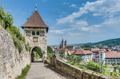 Neckarhaldentor in Esslingen am Neckar, Germany — Стоковое фото