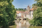 Ross Neckar Canal in Esslingen am Neckar, Germany — Stock Photo