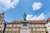 Das schiller-denkmal in stuttgart, deutschland — Stockfoto