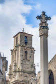 Assumption church bell tower at Calaceite, Spain — Stock Photo