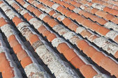 Alte rot gekachelte dächer in avila, spanien — Stockfoto