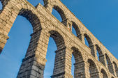Aqueduct of Segovia at Castile and Leon, Spain — Stock Photo