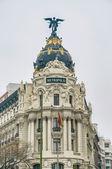 Metropolia budynku w madrid, hiszpania — Zdjęcie stockowe