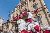 Ball de moixiganga bei festa major in sitges, spanien — Stockfoto
