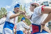 Cercavila performance within Vilafranca del Penedes Festa Major — Stock Photo