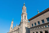 Our Lady of the Pillar Basilica at Zaragoza, Spain — Stock Photo