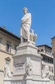 Pomnik dantego alighieri w florencja, włochy — Zdjęcie stockowe