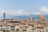 Florence's as seen from Piazzale Michelangelo, Italy — Foto Stock