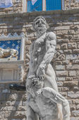 Hercules socha na náměstí signoria ve florencii, itálie — Stock fotografie