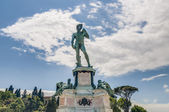 David at Piazzale Michelangelo in Florence, Italy — Stock Photo