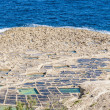 Salt pans near Qbajjar in Gozo, Malta. - Stock Photo