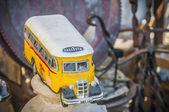 Malta's colourful buses in Gozo. — Stock Photo