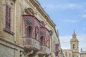 Inguanez house in Mdina, Malta — 图库照片