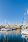 Dockyard Creek in Senglea, Malta — Stockfoto