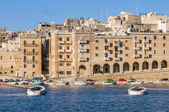 Senglea as seen from Birgu, Malta — Stock Photo