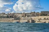 Valletta south waterfront in Malta — Stok fotoğraf