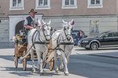 Carriage on Salzburg streets, Austria — Stock Photo
