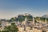 Salzburg general view from Capuchin Monastery (Kapuzinerkloster) — Stock Photo