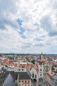 慕尼黑新市政厅塔从看到的视图. — 图库照片