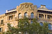 Passeig de gràcia, em barcelona, espanha — Fotografia Stock
