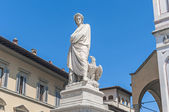 Statue of Dante Alighieri in Florence, Italy — Stock Photo