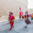 In Guardia Parade at St. Jonh's Cavalier in Birgu, Malta. - Stock Photo