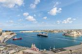 La valletta grand harbour na malcie — Zdjęcie stockowe