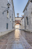 Franciscan street (Franziskanergasse) at Salzburg, Austria — Stock Photo