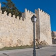 Defensive walls tower at Avila, Spain - Stock Photo