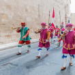 Stock Photo: In GuardiParade at St. Jonh's Cavalier in Birgu, Malta.
