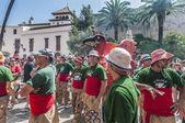 Aliga fantástica figura en festa principal en sitges, España — Foto de Stock