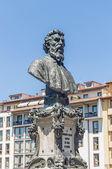 Busto de benvenuto cellini, em florença, itália — Foto Stock