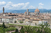 Florence's as seen from Piazzale Michelangelo, Italy — Stock fotografie