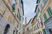 Mangia Tower in Siena, Tuscany Region, Italy — Stock Photo