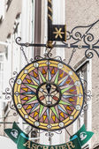 Getreidegasse shopping street in the Old-Town of Salzburg, Austr — Stock Photo