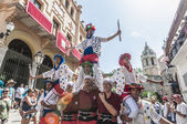 Ball de Moixiganga at Festa Major in Sitges, Spain — Stock Photo