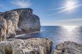 Fungus Rock, on the coast of Gozo, Malta — Stock Photo