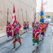 In GuardiParade at St. Jonh's Cavalier in Birgu, Malta. — Stock Photo #32662607