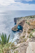 Blue Grotto on the southern coast of Malta. — Stock Photo