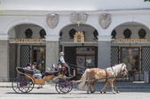 Carriage on Salzburg streets, Austria — Stock Photo