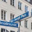 Max-Joseph-Platz street sign in Munich, Germany — Stock Photo