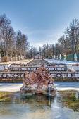 Cascade fountain at La Granja Palace, Spain — Stock Photo