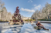 Fame fountain at La Granja Palace, Spain — Stock Photo