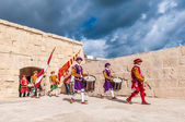 In Guardia Parade at St. Jonh's Cavalier in Birgu, Malta. — Stock Photo