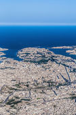 Valletta in Malta as seen from the air. — Stock Photo