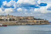 Valletta south waterfront in Malta — Foto Stock
