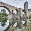Medieval bridge in Besalu, Spain — Stock Photo