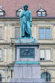 The Schiller memorial in Stuttgart, Germany — Stock Photo